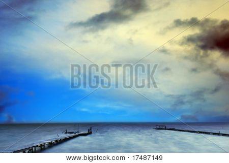 Bridge and the beautiful sky