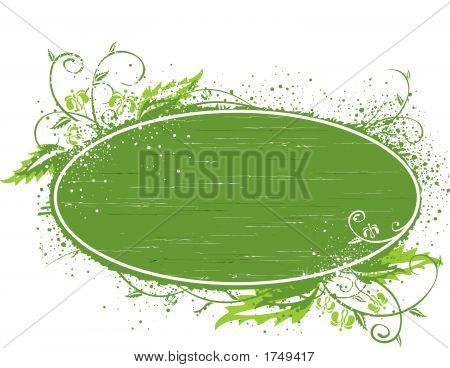Green Banner Template Illustration