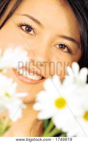Beautiful Girl - Flowers Portrait