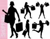 pic of exaltation  - shopping woman - JPG