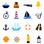 picture of torchlight  - nautical icon - JPG