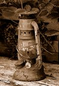 picture of kinda  - lantern in sepia - JPG