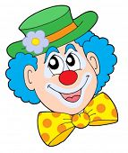 picture of clown face  - Portrait of clown  - JPG