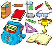 Back to school collection 4 - vector illustration.
