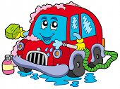 pic of car wash  - Cartoon car wash  - JPG
