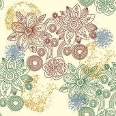 Постер, плакат: Бесшовный цветочный узор вектор