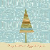 Постер, плакат: Рождественская елка Рождественская открытка