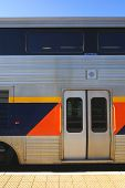foto of amtrak  - Entry doors passenger car of Amtrak California - JPG