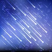 stock photo of meteoric rain  - Vector Meteors Rain - JPG