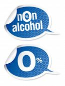 Non-alcohol drinks stickers set