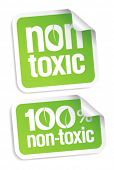 image of bio-hazard  - Non toxic product stickers set - JPG