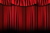 stock photo of swag  - Theater Stage Drapes With Top Swag - JPG