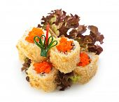 pic of masago  - Crispy California Maki Sushi with Masago   - JPG