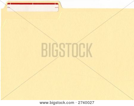 File Folder With Label
