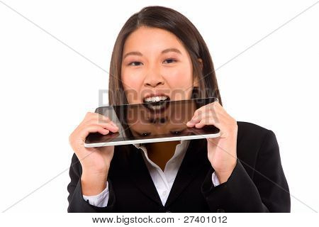 Asian Businesswoman With Tablet