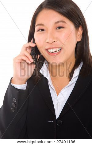Asian Businesswoman With Mobile
