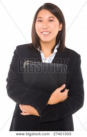 Asian Businesswoman With Documents