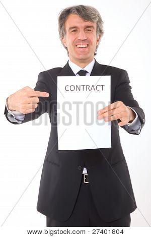 Empresario con contrato