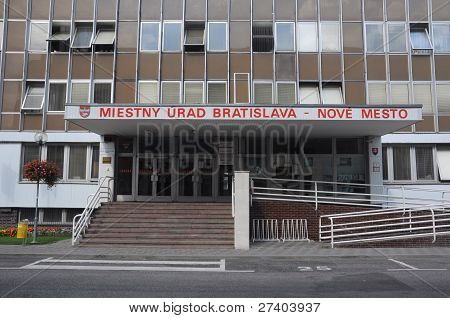 Local municipal office in Bratislava