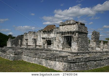 Abandoned temple at Tulum, Mexico