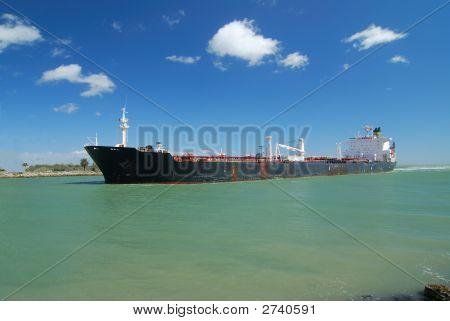 Tanker Delivering The Crude