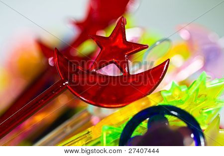 Red plastic star