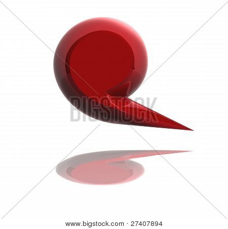 Bolha vermelha Media Social isolada