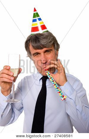 Businessman Toasting In Office