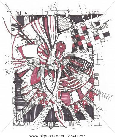 Geometrical abstract drawing