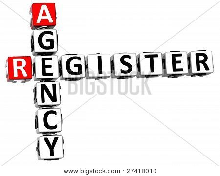 3D Agency Register Crossword