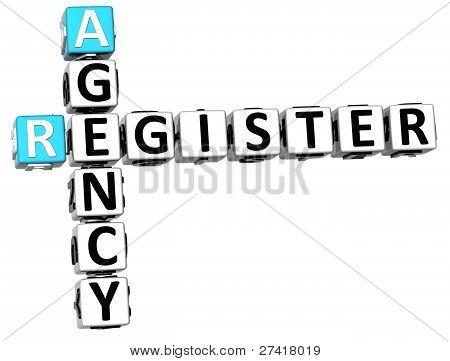 3D Agency Register Crossword
