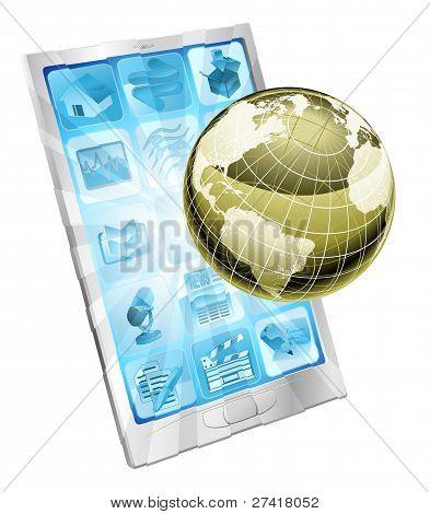 Mobiele telefoon Globe Concept