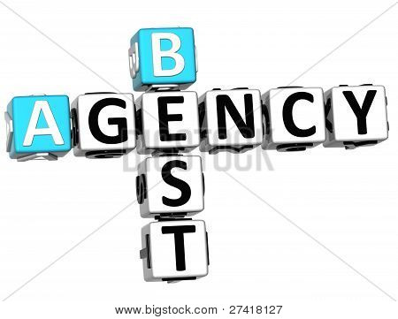 3D Best Agency Crossword