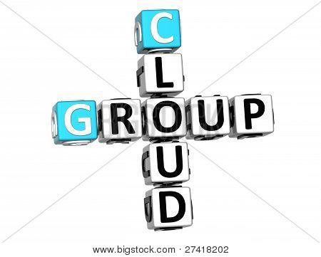 3D Group Cloud Crossword