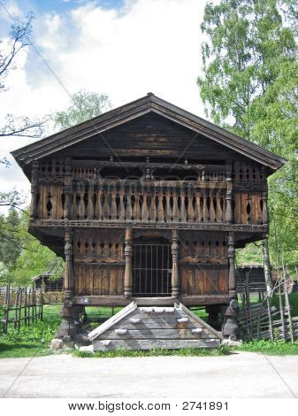 Old Scandinavian Farm House