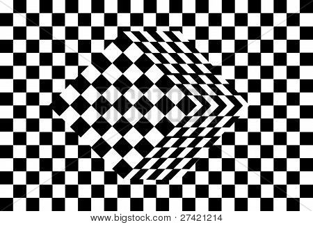 black and white cube optical illusion vector