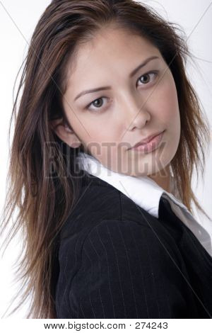 Closeup Of Young Woman In Business Attire