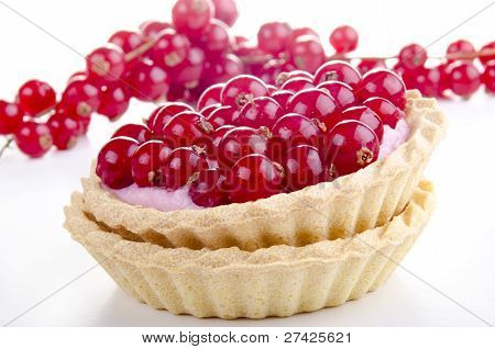 Pastry Case With Freshly Picked Red Currant