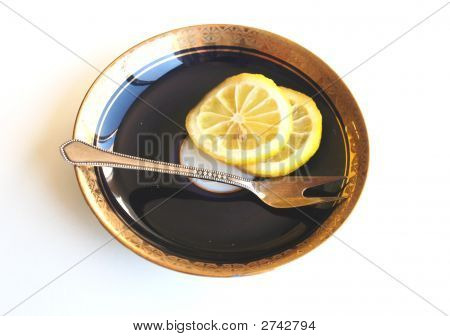A Lemon On Saucer.