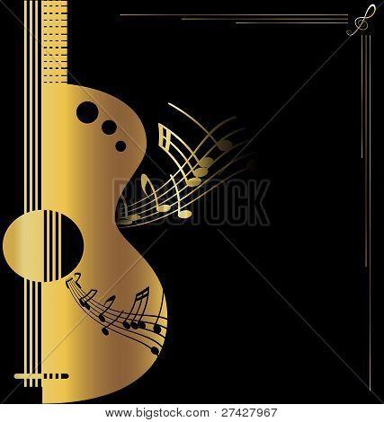 Hintergrund golden Gitarre