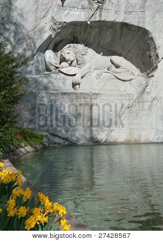 Monumento del León, Lucerna, Suiza
