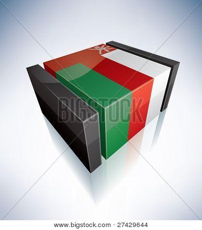 3D Flag Of Oman