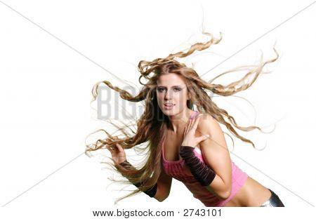 Sexy Tänzerin Mädchen