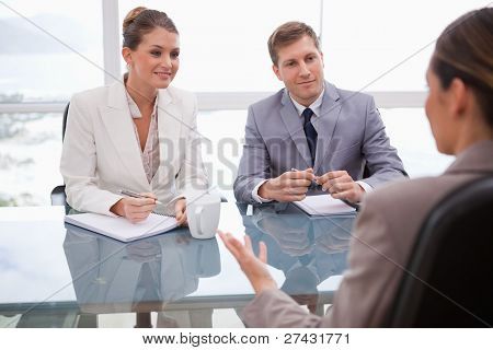 Business people in a negotiation