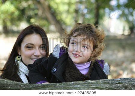 Madre e hija estaban parados por registro