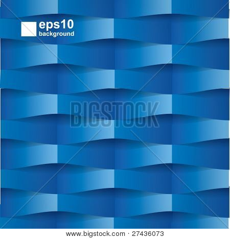 Abstract origami blue vector background