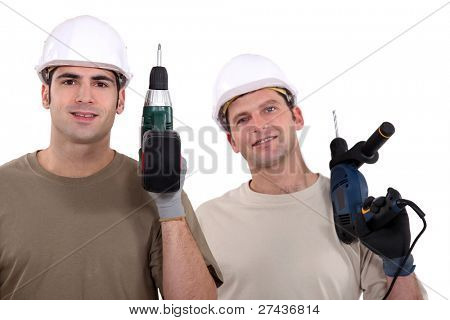 Two journeyman with drillers.