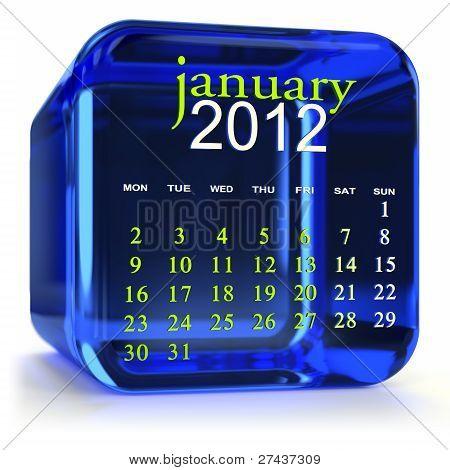 Blue January Calendar