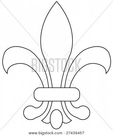 Fleur de lys vector