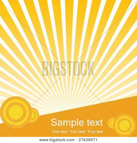Sunburst vector background